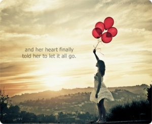heart says to let go